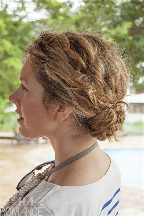 1 minute hairstyle braided bun in curly hair new video