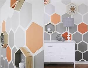 Muster Für Wandgestaltung : originelle sechseck wandgestaltung ~ Lizthompson.info Haus und Dekorationen