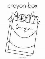 Coloring Box Crayon Crayons Built California Usa sketch template