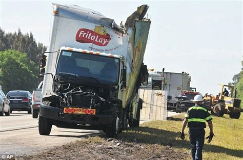 Chips Truck Crashes Into