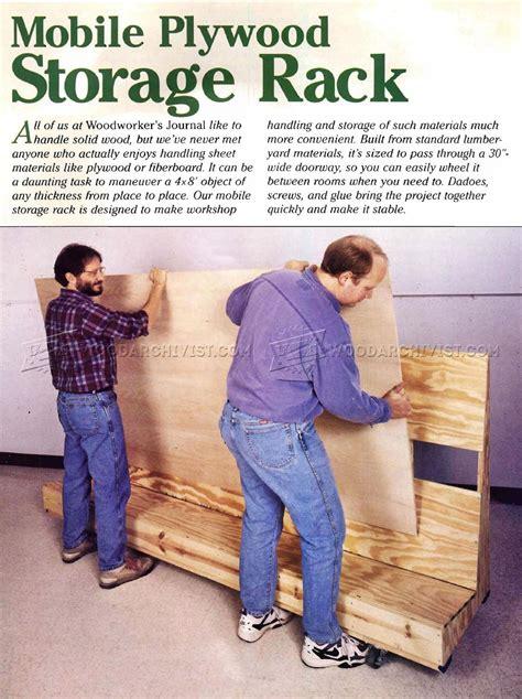 mobile plywood storage rack plans woodarchivist