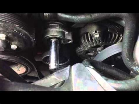 bmw drive belt tensioner pulley replacement part  youtube