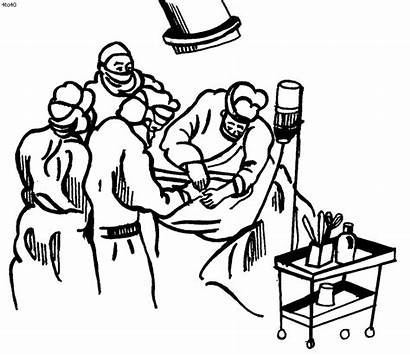 Coloring Pages Doctor Nurses Clipart Cartoon Medical