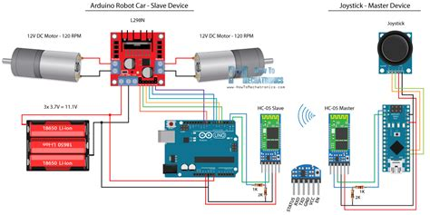 Arduino Robot Car Bluetooth Control Circuit