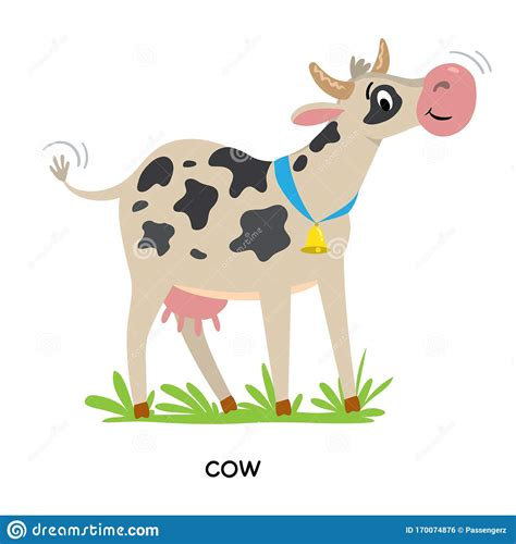 Animal farm is a book in which every character has a purpose and relevant symbolism for orwell's purpose: Funny Cow Or Calf Vector Illustration Farm Animals Stock ...