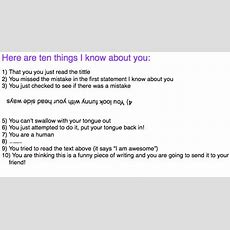 10 Things I Know About You!  Eve Boulanger
