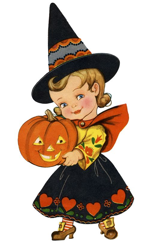 cute witch halloween pictures retro halloween