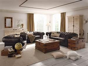 Sofa 3 2 1 : leder sofa chesterfield 3 2 1 im set braun massivholzm bel bei ~ Eleganceandgraceweddings.com Haus und Dekorationen