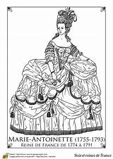 Antoinette Marie Coloriage Paper Coloring Dolls France Pages Adult Reine Sheets Guillotine Google Hugolescargot History Printable Coloriages Rococo Costumes French sketch template