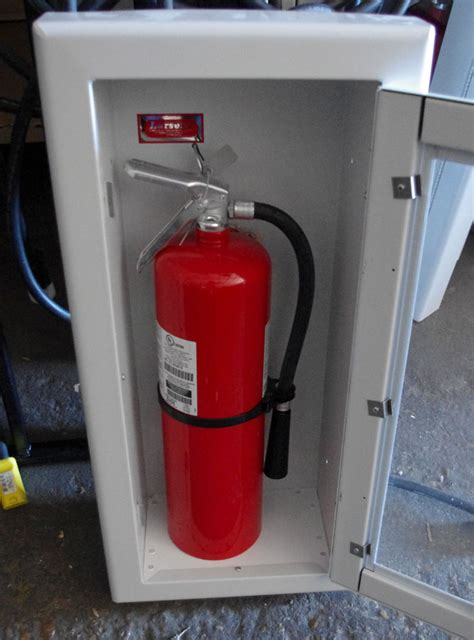 larsen recessed fire extinguisher cabinet extinguisher ebay