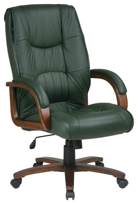 manchester deluxe back executive leather office chair