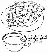 Pie Coloring Apple Orchard Clipart Drawing Tea Branch Tree Getdrawings Cup Popular Library sketch template