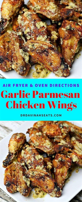 recipes fryer air appetizers chicken parmesan garlic wings recipe oven drdavinahseats keto