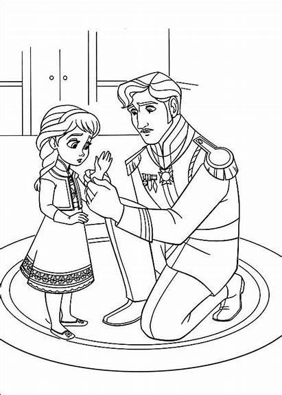 Frozen Ausmalbilder Elsa Anna Disney Coloring Movie