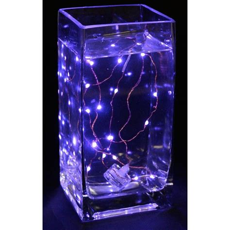 fully submersible battery  led light strand purple