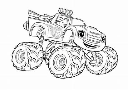 Truck Coloring Pages Semi Monster Trucks Printable