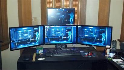 Monitor Stand Triple Monitors Setup Computer Diy