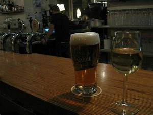 Pint Of Beer Glass Of Organic White Wine Did The Trick