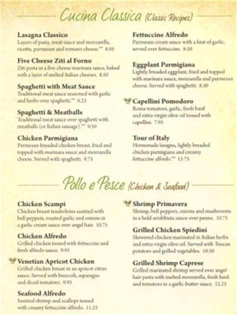 Show Me Olive Garden S Menu by Olive Garden Quotes Quotesgram