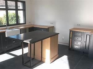 Cuisine Style Industriel Bois : l gance bois artisan cr ateur cuisine salle de bain ~ Teatrodelosmanantiales.com Idées de Décoration