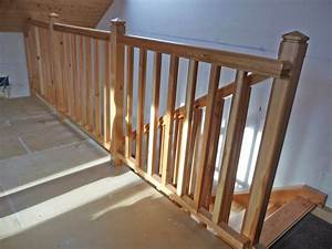 Balustrade En Bois : un escalier quart tournant balanc le garde corps ~ Melissatoandfro.com Idées de Décoration