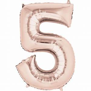 number letter balloons With large letter balloons rose gold