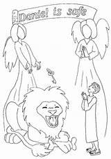 Daniel Den Coloring Lions Lion Bible Children Pages Story Stories Coloringhome sketch template