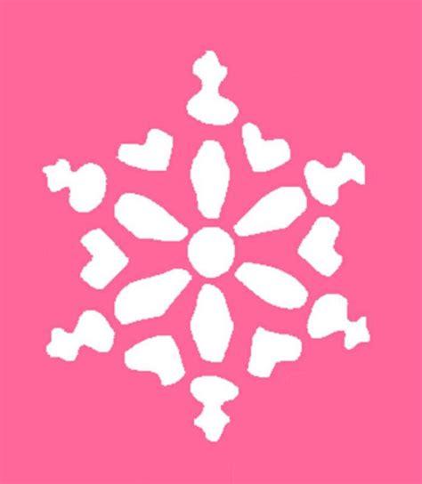 snowflake stencil template cake ideas and designs
