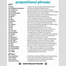 100+ Prepositional Phrase Sentences List  Myenglishteachereu Blog
