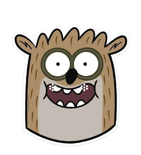 Rigby Regular Show Single Card Party Face Mask Available