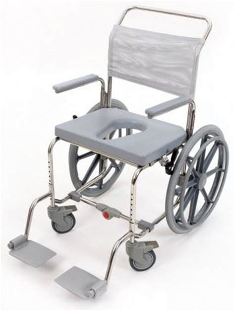 folding portable mobile self propelled shower chair