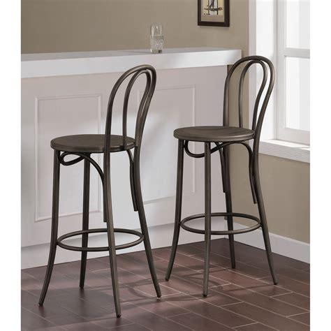 best deals on bar stools cafe vintage metal bar stools set of 2 overstock
