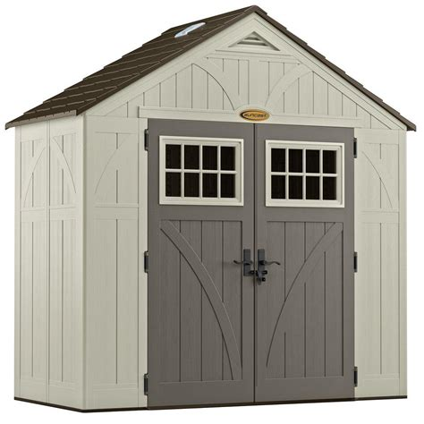 8 By 4 Shed by Suncast Tremont 4 Ft 3 4 In X 8 Ft 4 1 2 In Resin