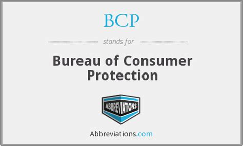 bureau of consumer affairs bcp bureau of consumer protection
