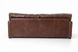 Larkin 88 Sofa In Cigar Or Old Saddle Black Leather
