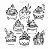 Coloring Pages Sugar Rush Sweet Adults Cupcakes Colouring Cakes Tooth Books Adult Cupcake Melanie Bolos Therapy Amazon Tea Para Marker sketch template