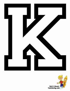 Free coloring pages of letter k