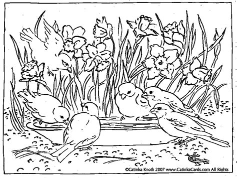 Pages Kindergarten Spring Coloring Pages