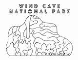 Cave Wind National Printable Parks Number Park Coloring Creative sketch template