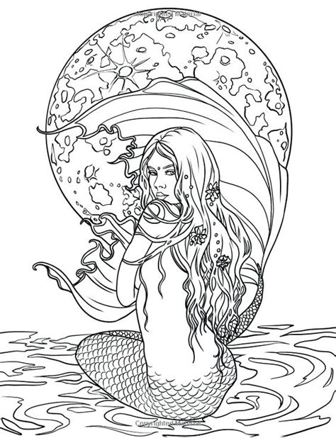 mermaid coloring pages easy  getcoloringscom