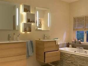 Tout savoir sur l'éclairage dans la salle de bains Leroy Merlin