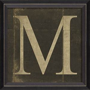 alphabet letter m framed wall art by spicher and company With letters framed letter art