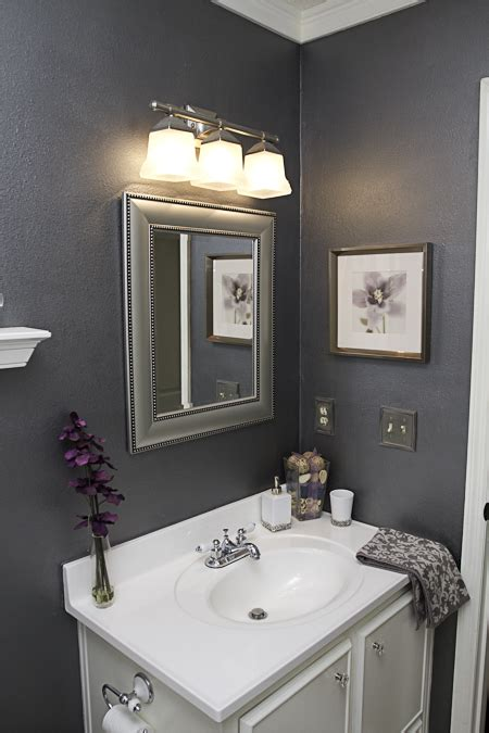 Gray Color Schemes For Bathrooms by Gray Silver White Purple Bathroom The Color Scheme