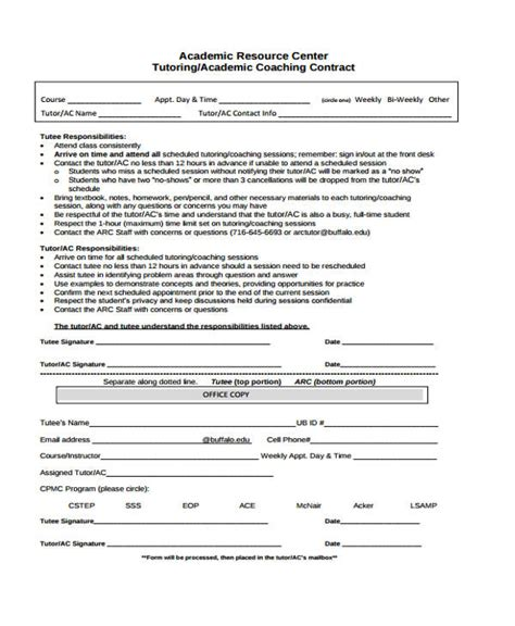 coaching contract templates word docs