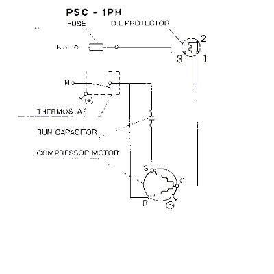 Wiring Diagram Of Refrigerator Compressor by Refrigeration Wiring Refrigeration Compressor