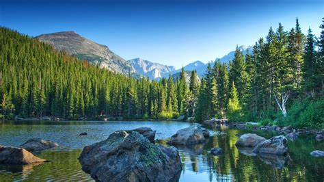 Mountains landscape nature mountain lake forest wallpaper ...