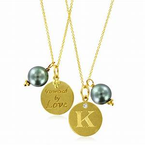 initial necklace pearl charm letter k diamond pendant With letter k charm necklace