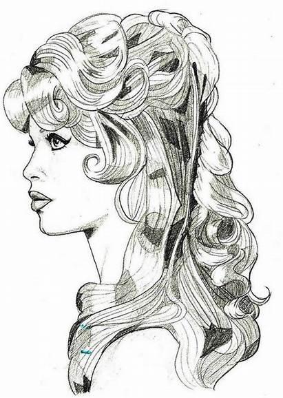 Brigitte Bardot Portrait Coloring Adult Handdraw