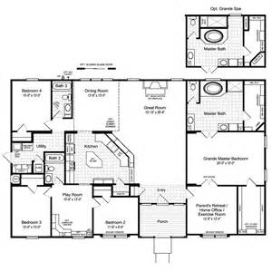 home floor planner the hacienda ii vr41664a manufactured home floor plan or