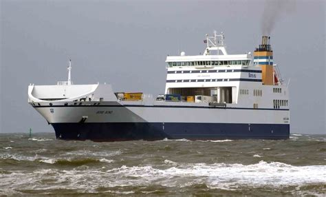 po ferries zeebrugge teesport route freight increase
